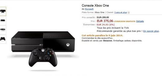 Xbox One à 375€