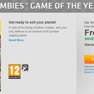 Plants vs Zombies offert par EA !