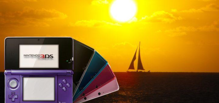 La joie de jouer à la 3DS pendant un couché de soleil...