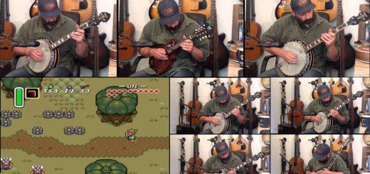 La musique de Zelda : A link to the past au Banjo, ça donne quoi ?