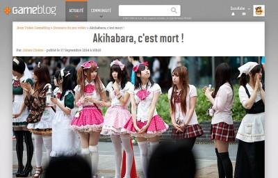 L'article de Gameblog : Akihabara, c'est mort !