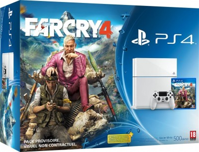 Le Pack PS4 Blanche + FarCry 4 � 399¤ !