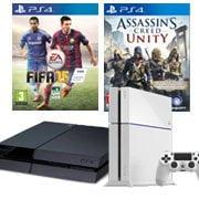 PS4 Blanche ou noire + 1 jeu : 399¤