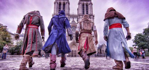 Du Parkour avec des cosplay d'Assassin's Creed Unity : On s'y croirait !
