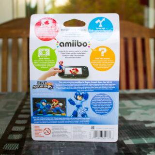 Dos de l'emballage de l'Amiibo Megaman