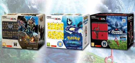 Les nouveaux Bundles new 3DS : Xenoblade, Monster Hunter et Pokémon !