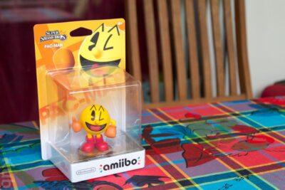 Hé hé ! L'Amiibo PacMan qui a perdu 90% de sa valeur au déballage :p !