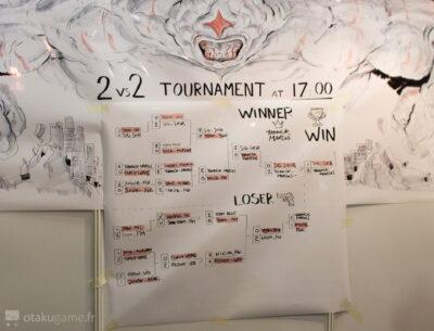Le fameux tournoi, ou je me suis fait ratatiner. Dans la bonne humeur bien sûr ;) !