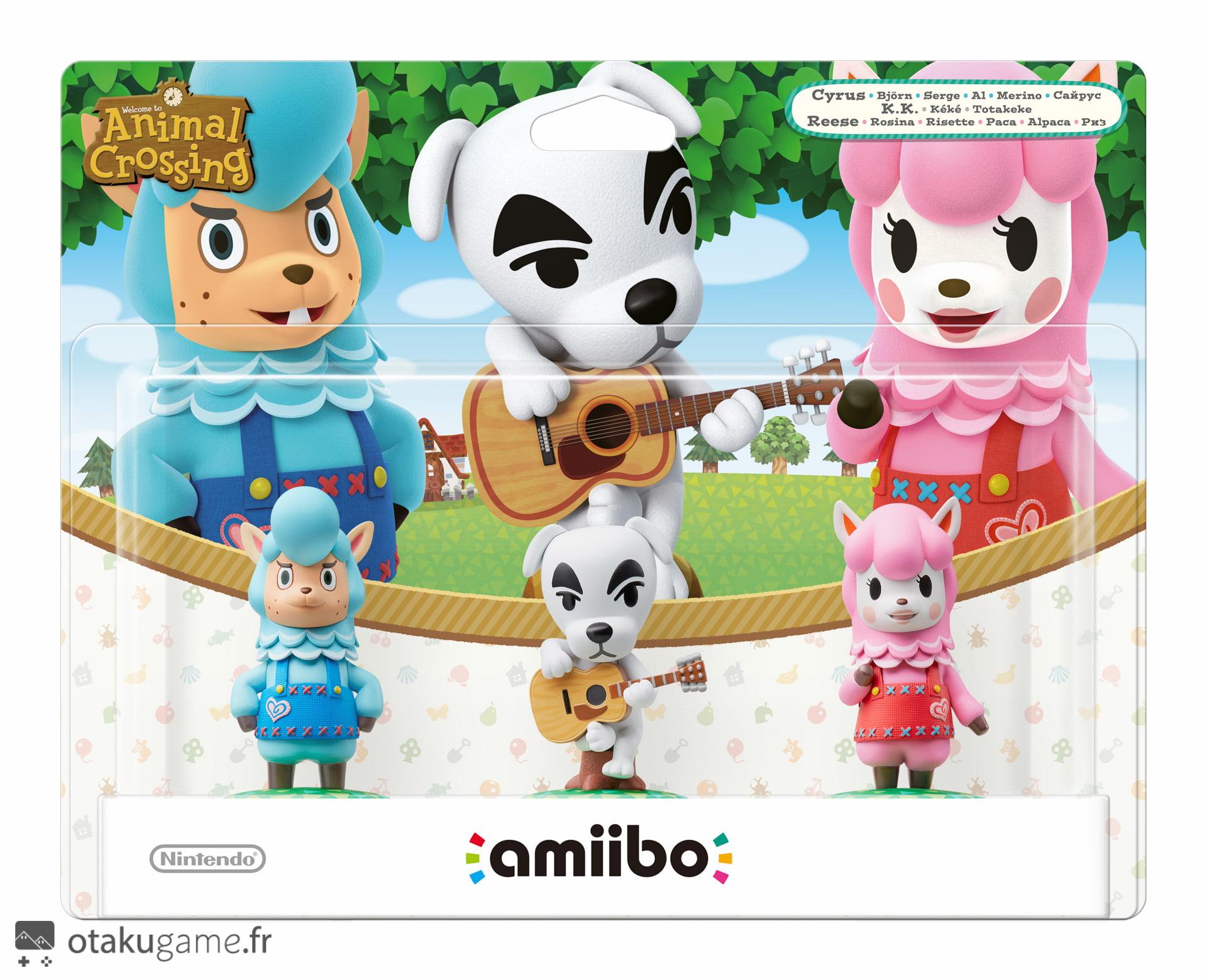 Pack de 3 Amiibo Animal Crossing