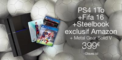 Accéder à la super promotion PS4 d'Amazon en cliquant ici