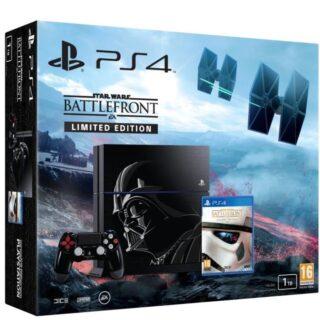 PS4 édition collector Dark Vador pour jouer à Star Wars Battlefront dans de bonnes conditions...