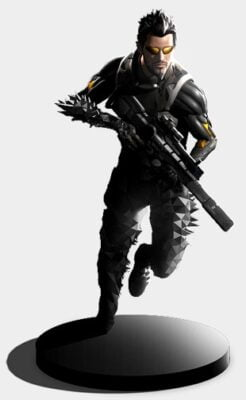 La figurine de Deus Ex Mankind Divided.