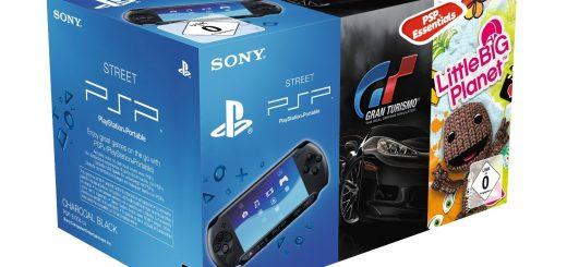 Cette PSP E est vendue avec des versions dématérialisées de Gran Turismo et de Little Big Planet