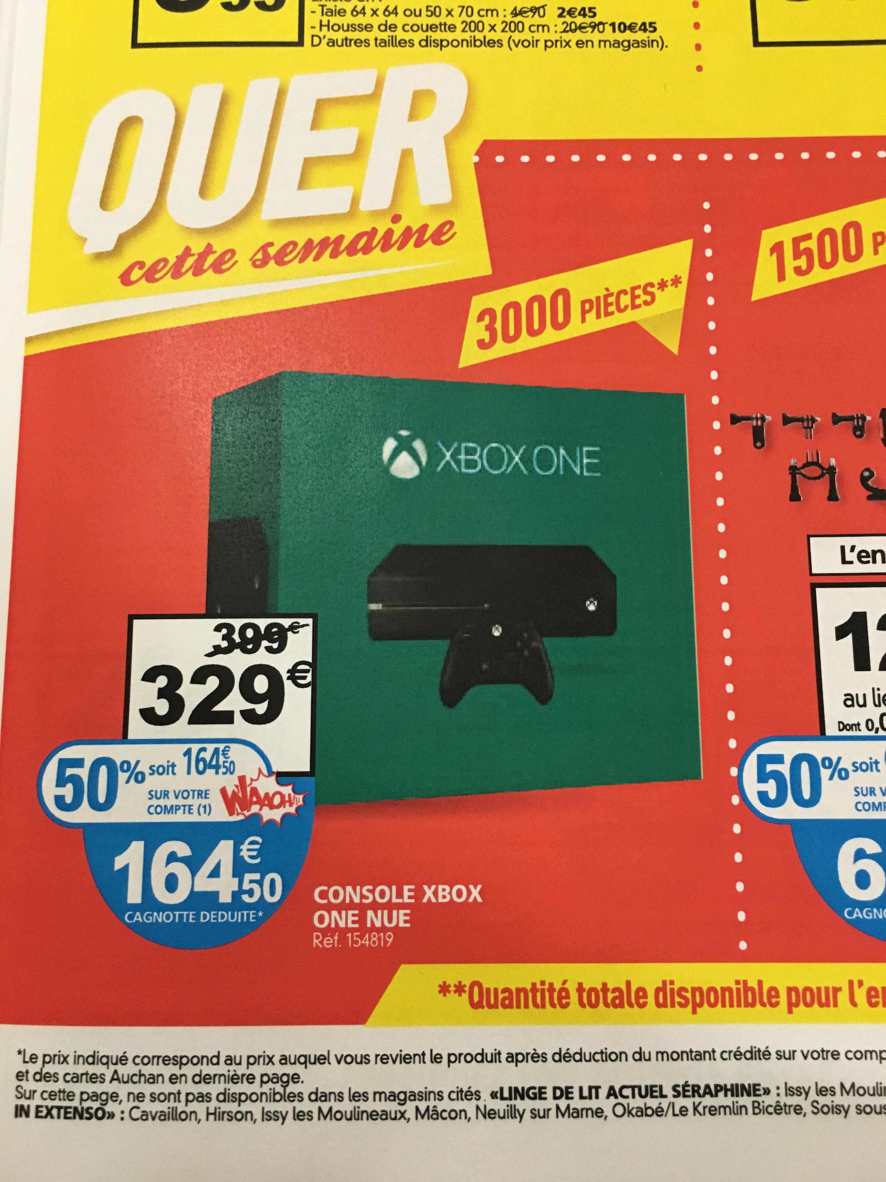 Promo La Xbox One à 164 50 Auchan 329 164 50 De Bons