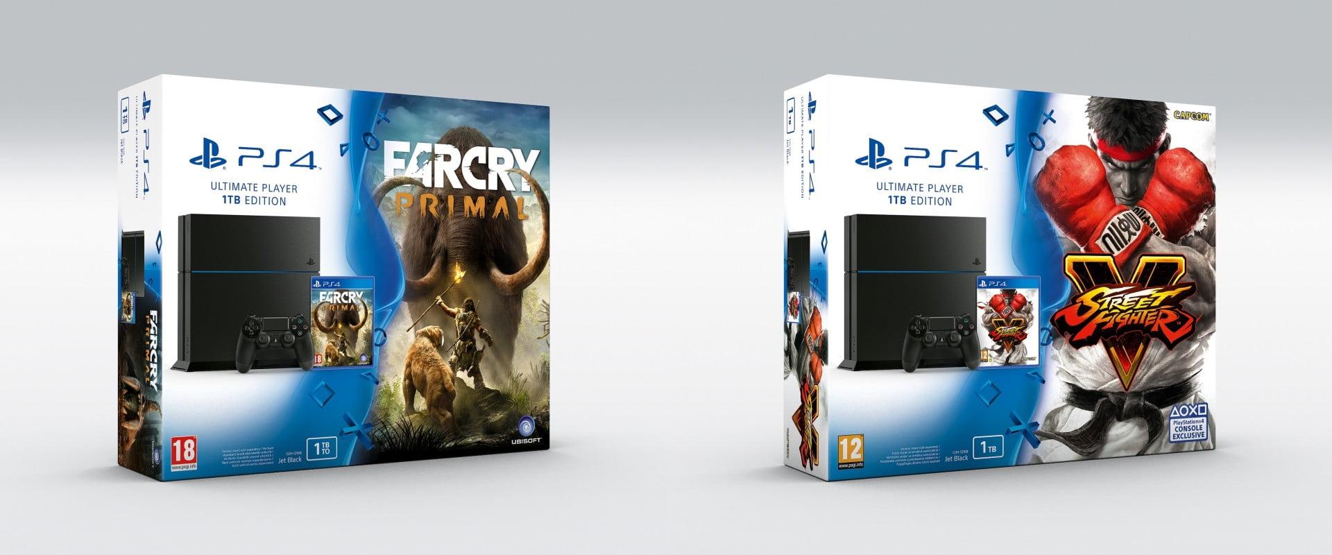 promo les packs ps4 1to 2 jeux sfv far cry primal etc 419. Black Bedroom Furniture Sets. Home Design Ideas