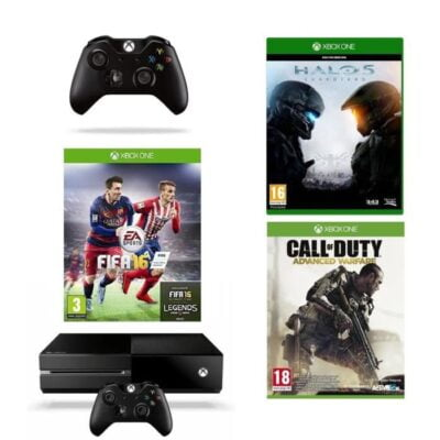 La Xbox One 1To + Fifa 16 + Halo 5 + COD AW + Seconde Manette à 349€ seulement !