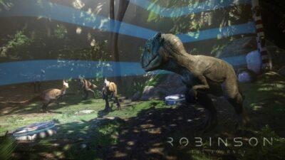 Il apprend à chasser ce petit T-Rex !