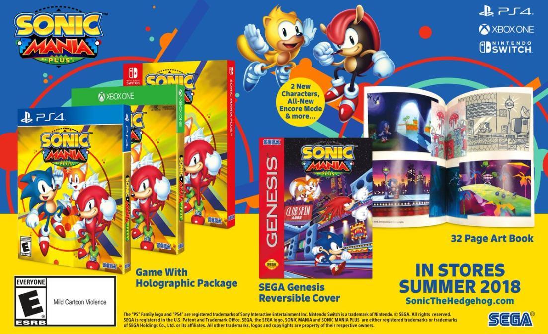Sega annonce Sonic Mania Plus + sortie en boite et une série animée
