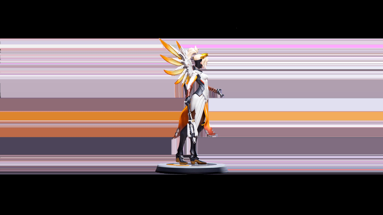 La figurine officielle de Ange (Overwatch)