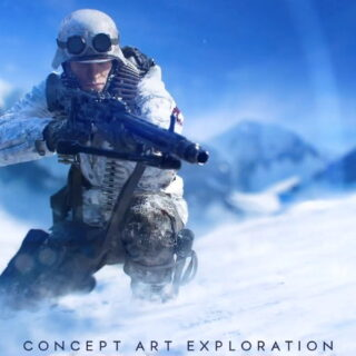 Concept Art Battlefield V à la neige ^^ !