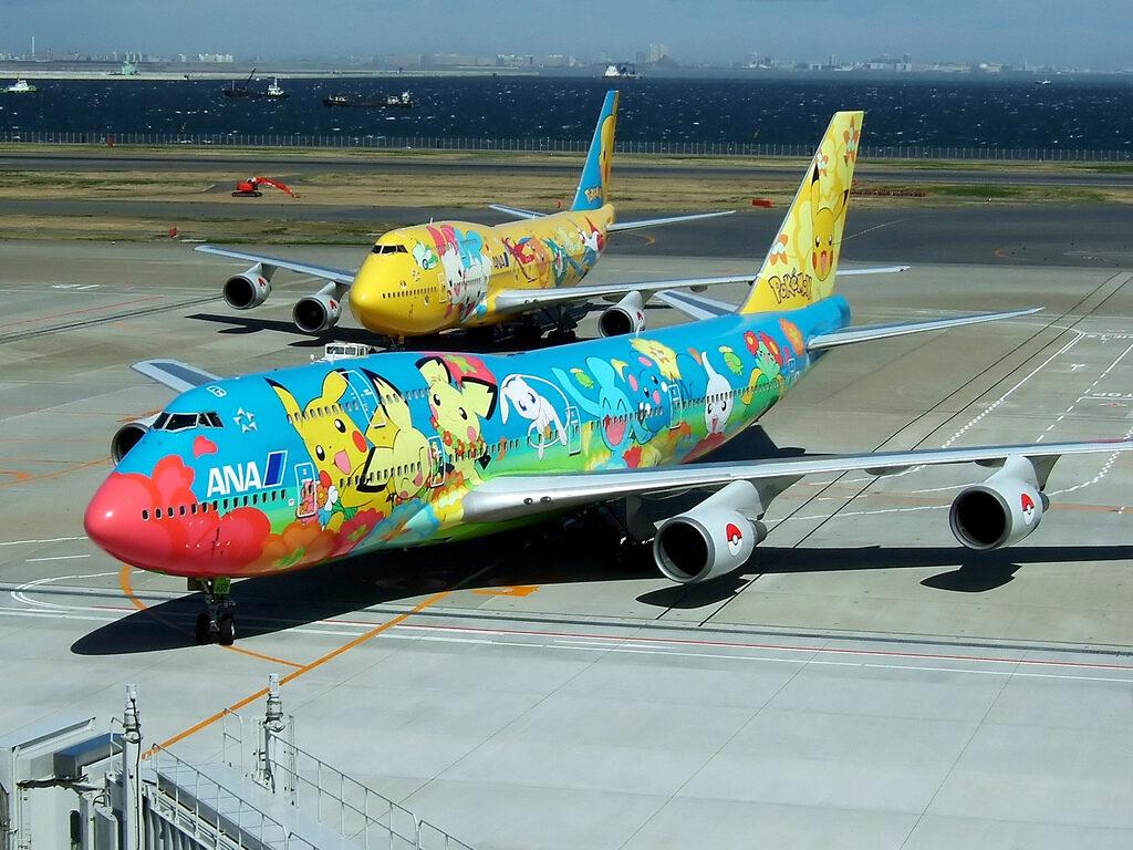 Un Boeing 747 Pikachu de la ANA !