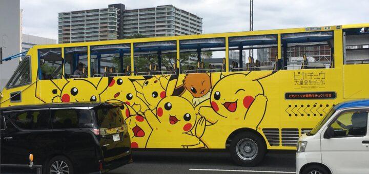 J'avais déjà vu le bus Pikachu au Japon, mais là, on franchit une autre étape !