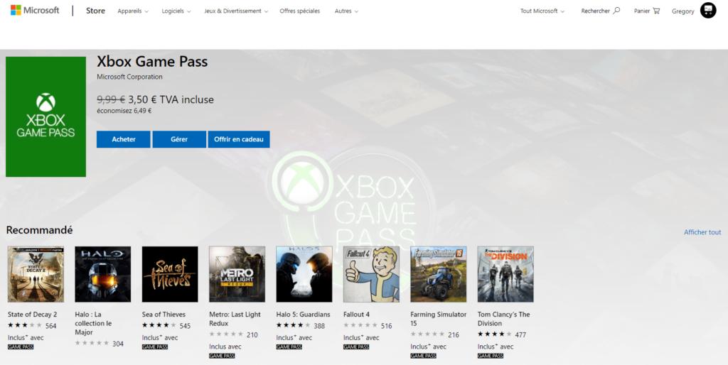 Un tarif imbattable : 3€50 pour 1 mois de Xbox Game Pass !
