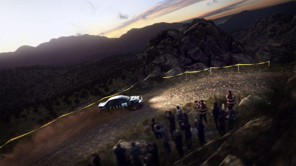 Dirt Rally 2.0 dispose de sublimes effets de lumière.