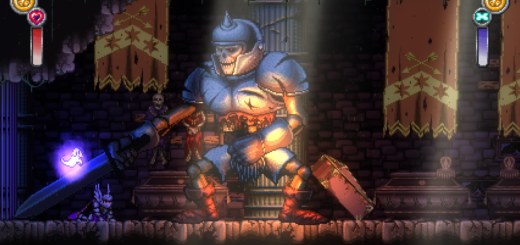 Le premier boss que j'ai croisé dans Battle Princess Madelyn !