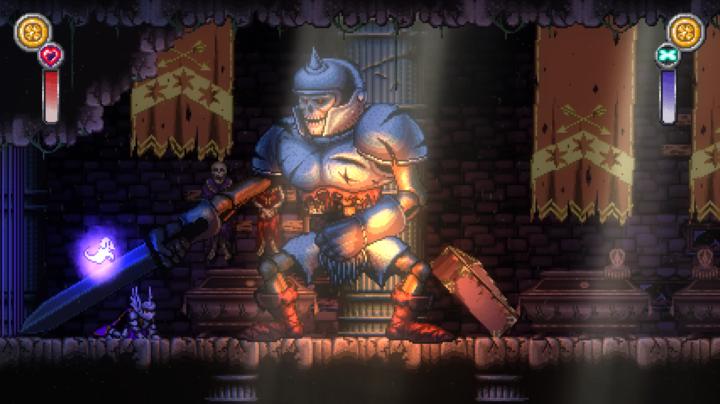 Le premier boss que j'ai croisé dans Battle Princess Madelyn !