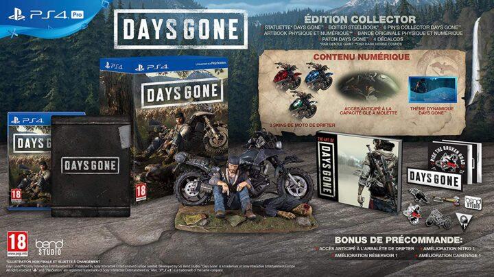 Le collector de Days Gone est de retour chez Amazon, à 149€99 !