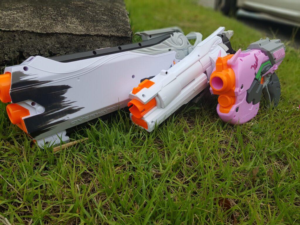 Le pistolet NERF McCree avec ses 2 frères !