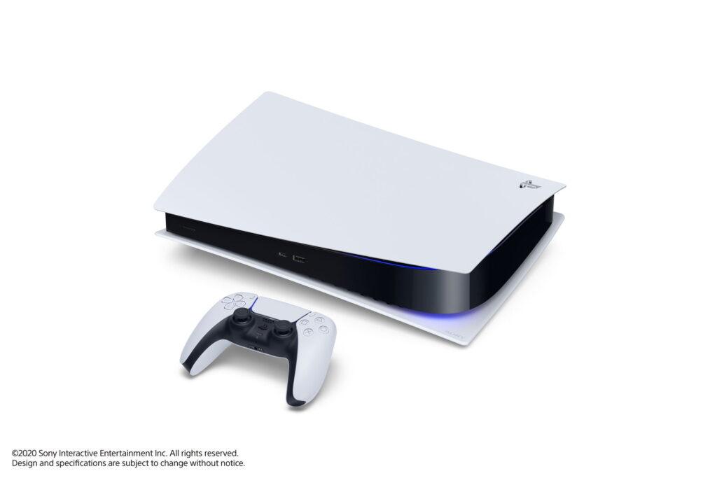 La PS5 Digital Edition couchée